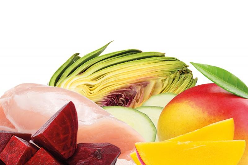trockenbarf light menu huhn mit kurbis mango und artischocken