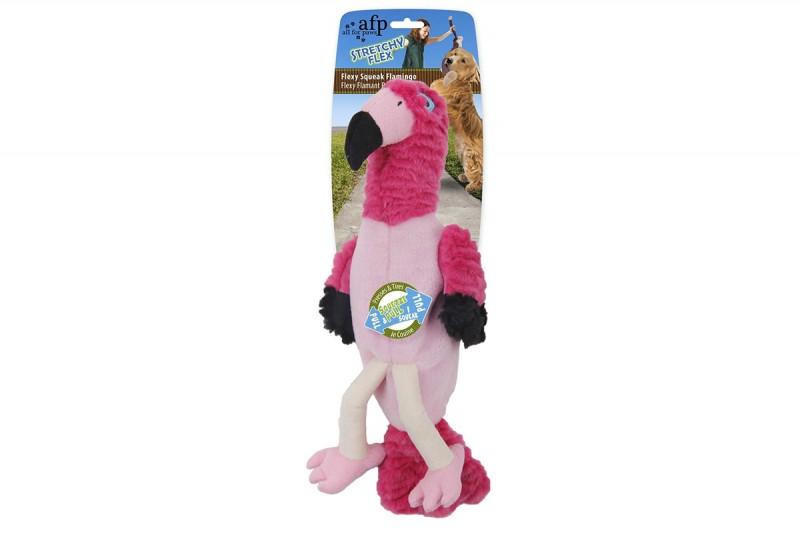 Hundespielzeug Flexy Squeak Flamingo