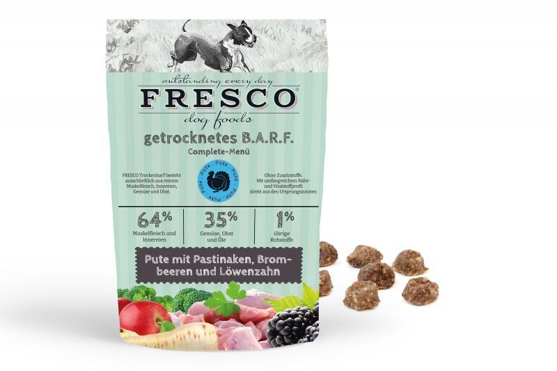 Trockenbarf Complete-Menü Pute mit Pastinaken, Brombeeren und Löwenzahn