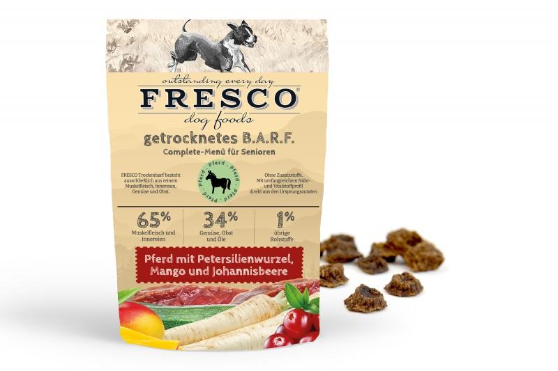 Trockenbarf Senioren-Menü Pferd mit Petersilienwurzel, Mango und Johannisbeeren