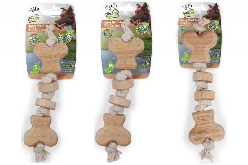 Hundespielzeug Ropey Wood Bone
