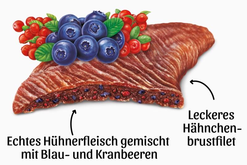 Hähnchenfilets mit Blau- und Kranbeeren