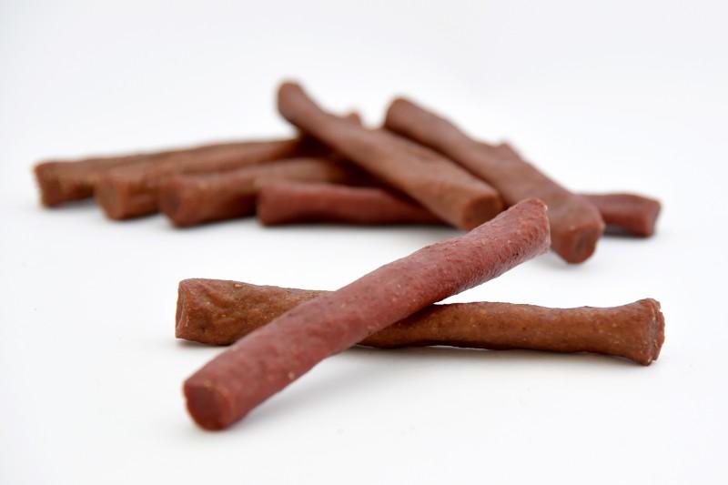 Ochsenziemerkaustangen 12cm mit Kürbis und Süßkartoffeln