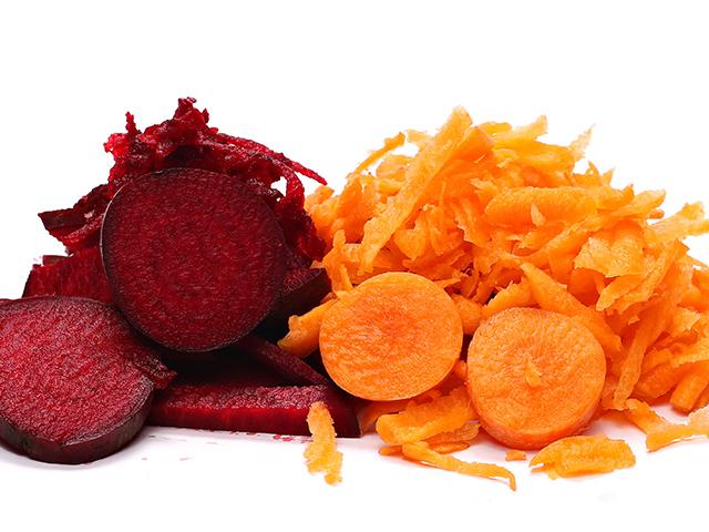 Karotten und Rote Beete